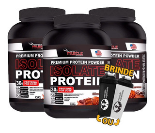 Combo 3x Whey Isolate Protein Isolado 1,8kg + Coq Grátis