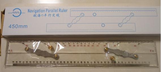 Régua Paralela Navegação Nautica 450mm Acril Inox Eurosul
