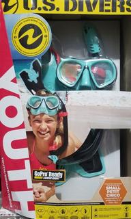 Snorkel Kit Us Divers Niñas/niñas Gopro Ready