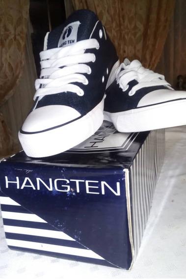 Zapatos Deportivos Cuero Hang Ten Talla 39 Original 50