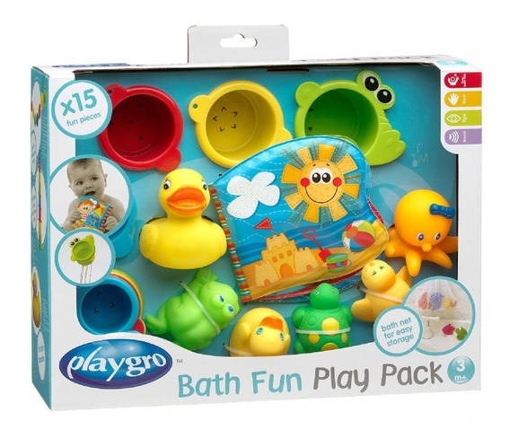 Set De Baño Bebé Playgro Bath Fun Play Pack