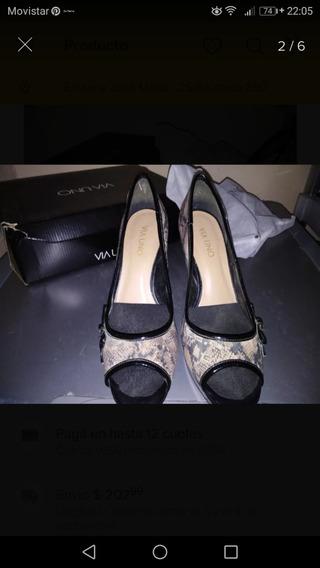 Zapatos Stiletos Via Uno Usados
