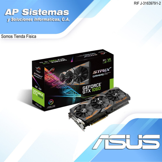 Tarjeta De Video Asus Rog Strix Gtx1060 6g-gaming
