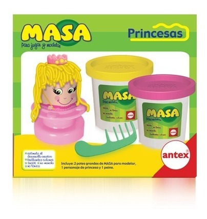 Imagen 1 de 3 de Antex Masa Princesa Para Moldear 2149