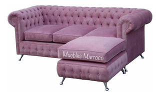 Sillón Chesterfield Esquinero + Placa Soft !