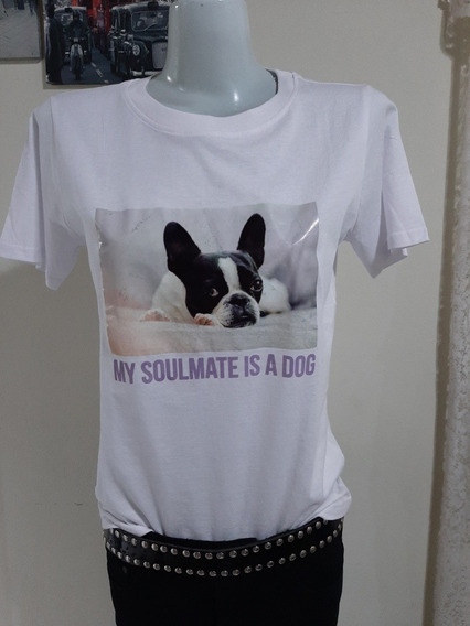 Remera Bulldog Blanca Marca Sybilla Talle M Nueva