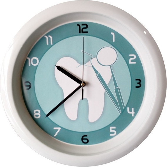 Reloj De Pared Muela Contorno Verde