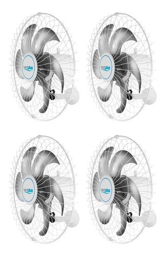 Imagem 1 de 6 de Kit 4 Ventilador Parede 50 Cm Turbolex 6 Pas 200w Branco