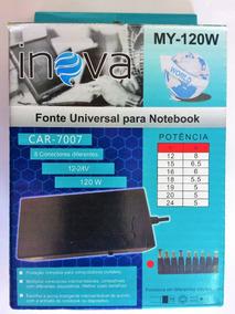Carregador Universal Inova Para Notebook Ac/dc