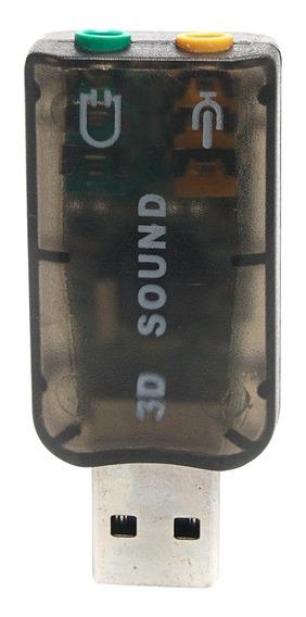 Adaptador Usb 5.1 3d Sound - Audio / Microfone