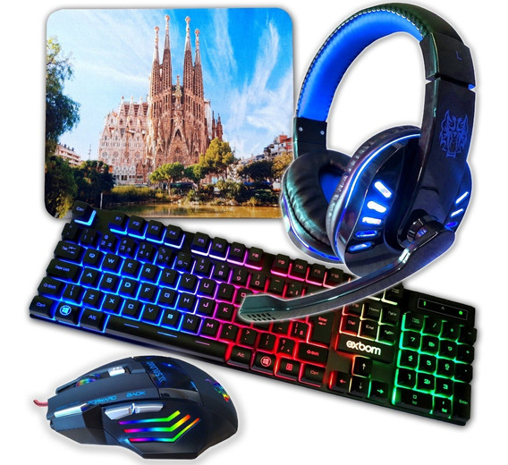 Teclado Gamer Mouse Gamer Head Set Gamer E Mouse Pad