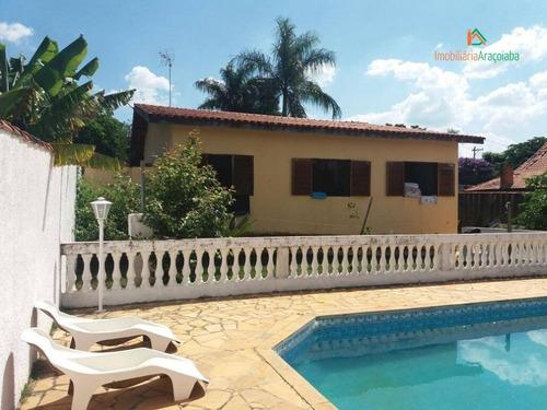 Imagem 1 de 28 de Chácara Com 3 Dormitórios À Venda, 1200 M² Por R$ 700.000,00 - Residencial Alvorada - Araçoiaba Da Serra/sp - Ch0102