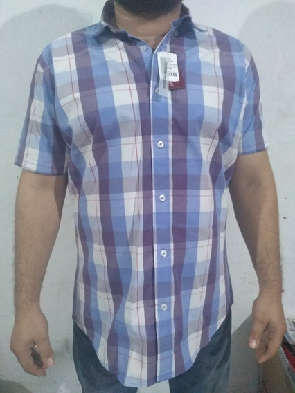 Oferta Buen Fin Camisa Blessshirt Manga Corta Cuadros
