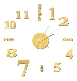 Reloj De Pared Diy Reloj De Pared Con Espejo Sin Marco Gran