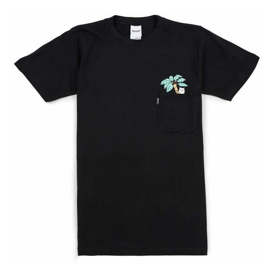 Playera Ripndip Nermal Leaf Black Pocket T-shirt Original