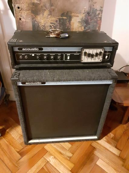 Amplificador De Bajo Acoustic 220 1979 1x15