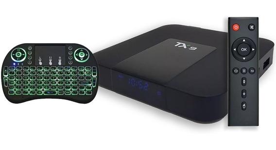 Tx9 32gb 4gb + Mini Teclado Com Led - Pronta Entrega