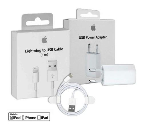 Cargador Completo iPhone Original Pared + Cable Usb Sellado