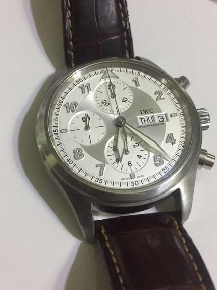 Relógio Iwc Cronografo Automático 44mm Flieger 3717 Pilot