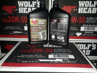 Aceite 20w-50 Wolf