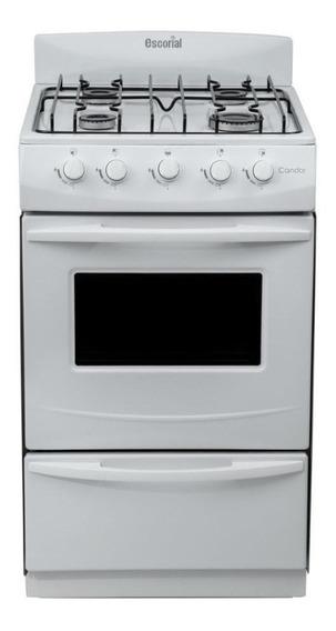 Cocina Escorial Candor 4 multigas blanca 220V puerta visor