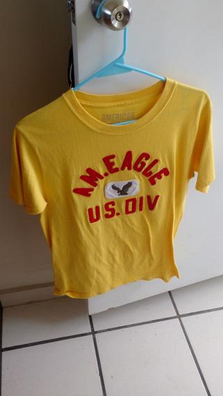 Camiseta American Eagle Outfitters Amarilla