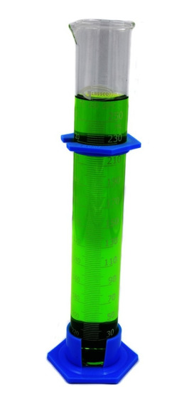 Probeta De Vidrio De 250 Ml Con Base De Plástico Appcrom