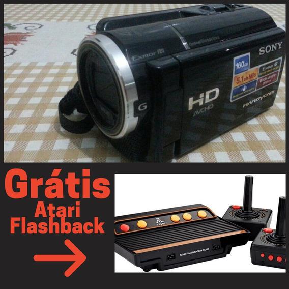 Filmadora Sony Hd 1080p - Hdr-xr160 + Grátis : Atari