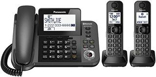 Teléfono Fijo Panasonic Kx-tgf382m Y 2-teléfonos Con Base