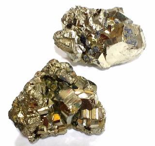 Lote Com 2 Piritas Qualidade Extra 94g 40mm Pedras Naturais