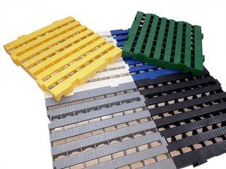 Palete 4,5x40x40 Cm Estrado Plástico - Deck Piso Baú