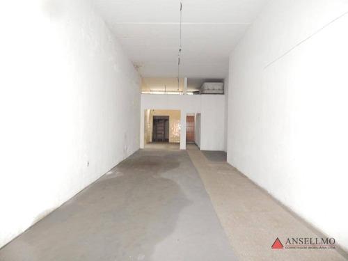 Salão Para Alugar, 120 M² Por R$ 2.500,00/mês - Assunção - São Bernardo Do Campo/sp - Sl0428