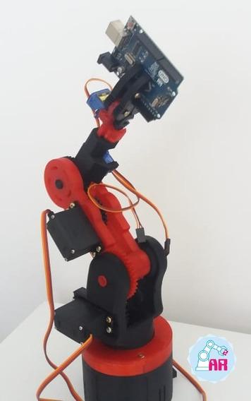Braço Robótico Arr7 + Joystick Arr + Shield Robot