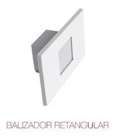 Kit 7 Balizador Embutir 0,65w Em Parede Ip65 Interlight 4x2