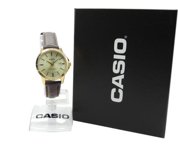 Relógio Casio Feminino - Ltp-v004gl-9audf - Nf + Garantia