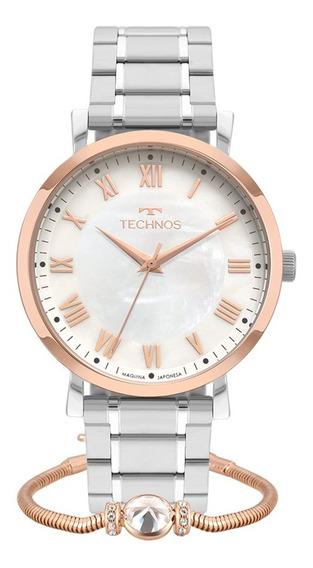 Relógio Technos Feminino Dress 2035mqy/k5b + Pulseira Nota