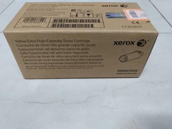 Toner Xerox C600 Amarelo Original 106r03926