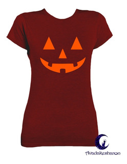 Camiseta Estampada Halloween Cara De Halloween