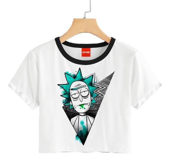 Blusa Rick Y Morty Creep Triángulo Dama Playera Crop #735