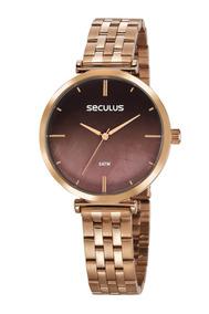Relógio Feminino Seculus 77040lpskrs2 Promoção Dia Dos Pais