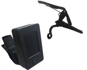 Kit Afinador Digital Clip Cromático + Capotraste Envio Já