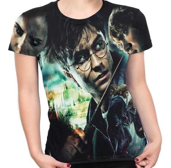 Camiseta Baby Look Filme Trilogia Harry Potter Md01
