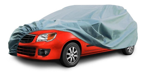 Imagen 1 de 6 de Cubre Auto Talle M Plateado Polyester