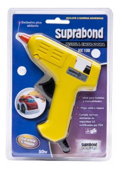 Pistola Encoladora Silicona Electrica Hx100 Suprabond 10w