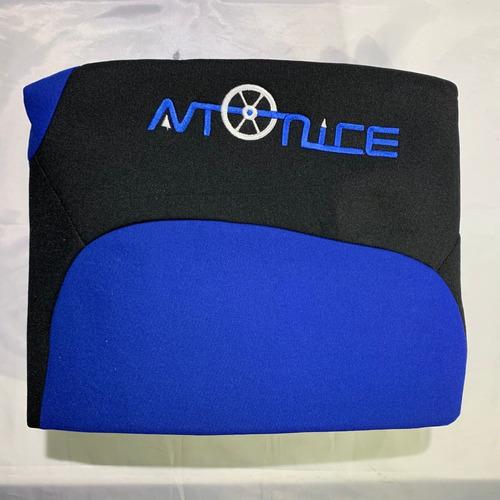 Fundas Cubre Asientos Tela Acolchonada Negro+ Azul F5106-2