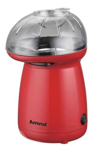 Pipoqueira Elétrica Sem Óleo Ar Quente Amvox 1200w Vermelha