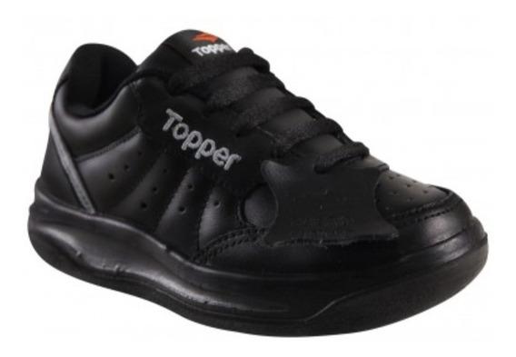 Zapatillas Topper Niños 100% Cuero Colegial Forcer Kid Tenis