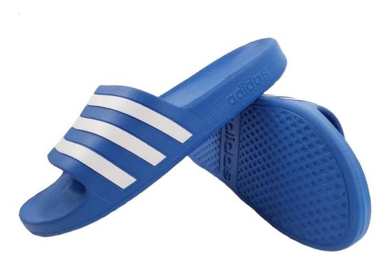 Ojotas adidas Adilette Aqua Celeste Hombre 35541 Full Eezap