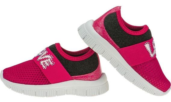 Tenis Feminino Infantil Casual Jogging Calce Fácil Love Baby