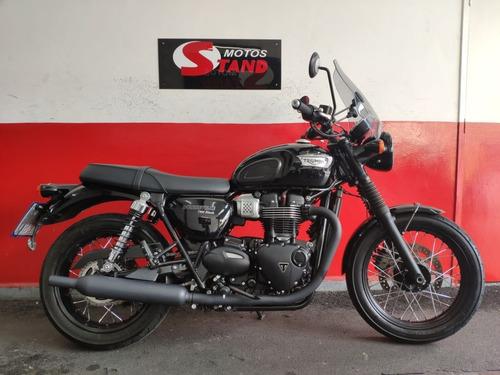 Triumph Bonneville T100 T 100 Black Abs 2019 Preta Preto
